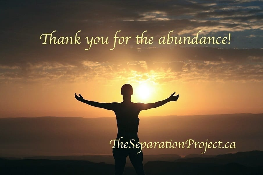 Thank you for the abundance!
